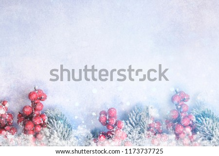 Banner with sparkling Christmas glitter ornaments, Holiday background for Merry Christmas and Happy New Year #1173737725