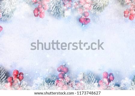 Banner with sparkling Christmas glitter ornaments, Holiday background for Merry Christmas and Happy New Year #1173748627