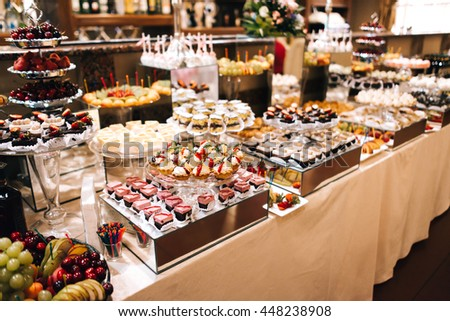 BANQUET sweet table with desserts #448238908