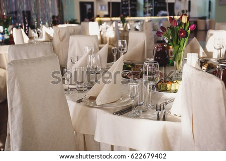 banquet table, restaurant table