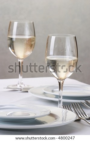 Banquet table setting