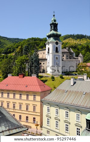 Banska Stiavnica Old castle and historic buildings and urban