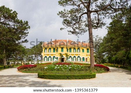Photo of  Bao Dai's Palace in Dalat, Vietnam. This is a famous place for travellers in Dalat.