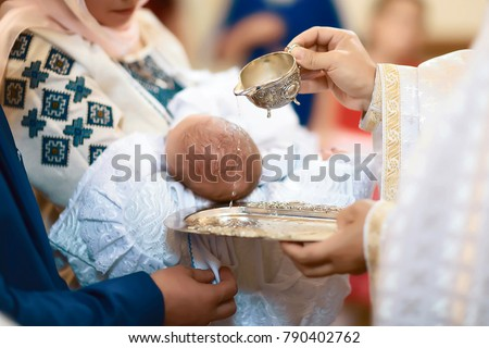 Baptism ceremony in Church.