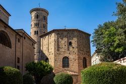 Baptistery of Neon in Ravenna. Emilia-Romagna, Italy