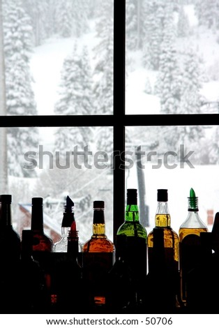 Bar at the ski resort