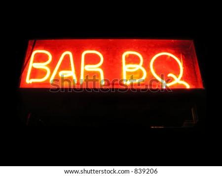 Neonzeichen des Stabes BQ