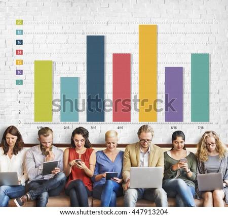 Bar Chart Graph Marketing Profit Improvement Sales Concept