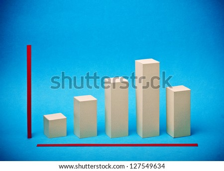 Bar Chart made �¢??�¢??out of paper