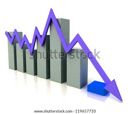 Bar Chart Showing Blue Profit Line Against Budget Bar Chart