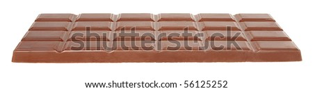 Bar chocolate on a white background. - stock photo