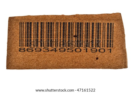 Bar Code Cutout from Carton Box