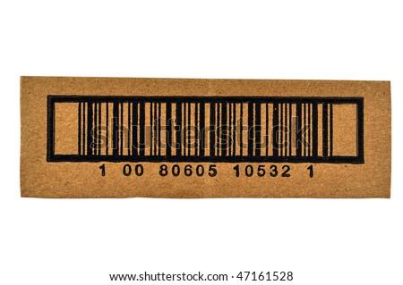 Bar Code Cutout from Carton Box