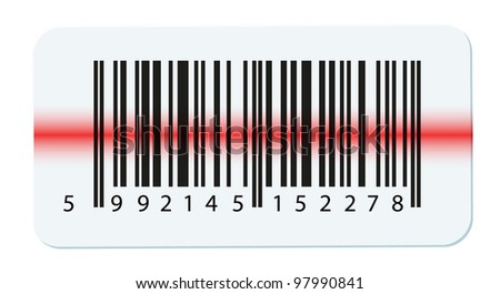 bar code isolated on white