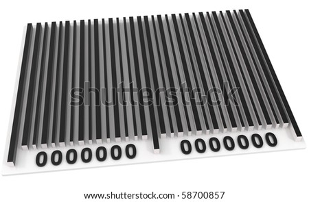 Bar Code isolated on white - 3d illustration