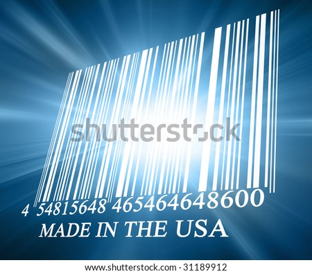 Bar code on a soft blue background