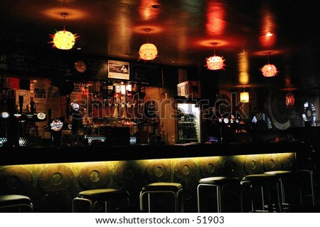 bar, glasgow - stock photo