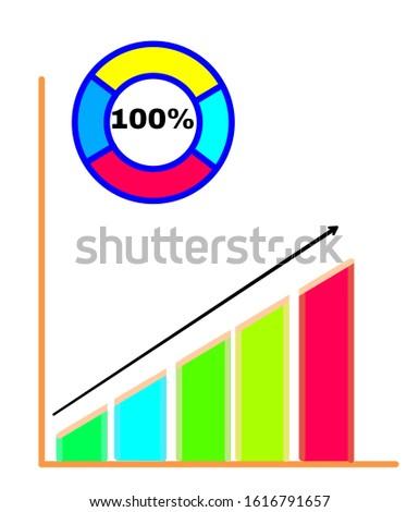 Bar graph Graph showing business diagram