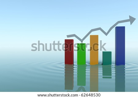 bar graph with arrows ups and down