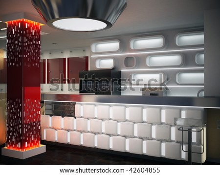 Bar interior design - stock photo