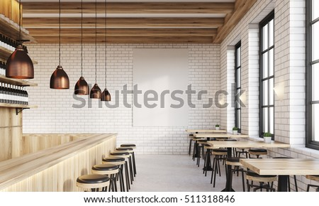 bar interior with counter ...