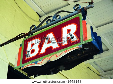 Bar Sign on Decatur Street, New Orleans 2006