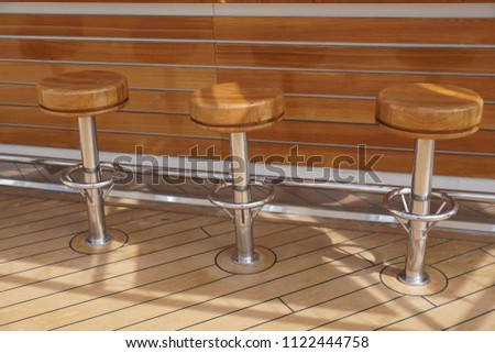 Bar stools on cruise ship