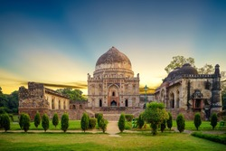 Bara Gumbad at lodi garden in Delhi, India