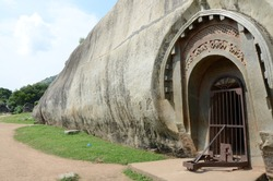Barabar Caves said to be the oldest man made caves built by cutting these granite hills in Bihar by Mauryan Empire of Magadh (present day State of Bihar in India) in 3rd Century BC