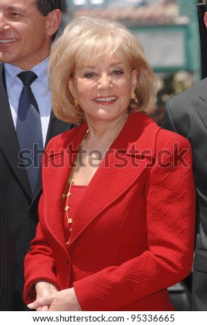 Barbara Walters on Hollywood Boulevard where she was honored with the 2,340th star on the Hollywood Walk of Fame. June 14, 2007  Los Angeles, CA Picture: Paul Smith / Featureflash