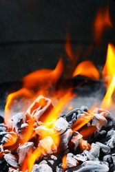 Barbecue Grill flame fire charcoal BBQ