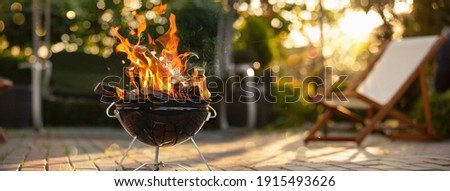 Barbecue Grill In The Open Air. Summer Holidays Photo stock ©