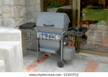 Barbecue grill on a patio