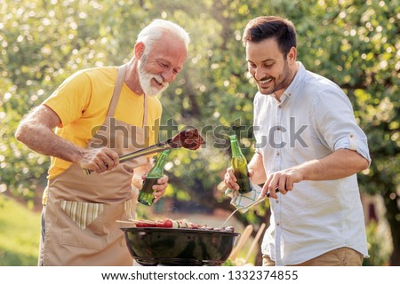 Barbecue.Leisure, food, family and holidays concept.