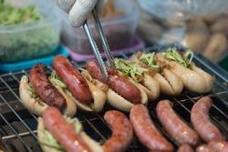 Barbecue on Street food ,Taipei ,Taiwan