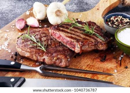 Barbecue Rib Eye Steak, dry Aged Wagyu Entrecote Steak.