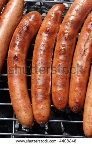 Barbecue, sausages, ham sausages, grill, garden