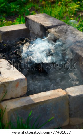 barbecue will be ready wery soon charcoals are red