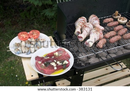 Barbecued food - summer party idea
