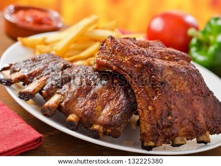 Barbecued Pork Baby Back Ribs