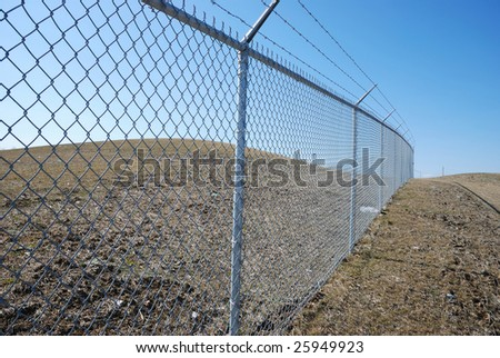barbed fence #25949923