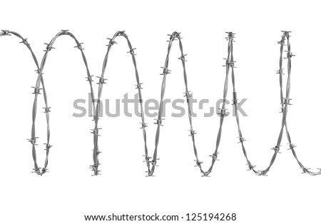 Barbed wire 3d illustration