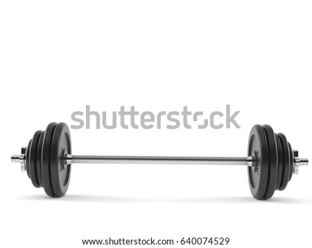 Barbell isolated on white background. 3d illustration