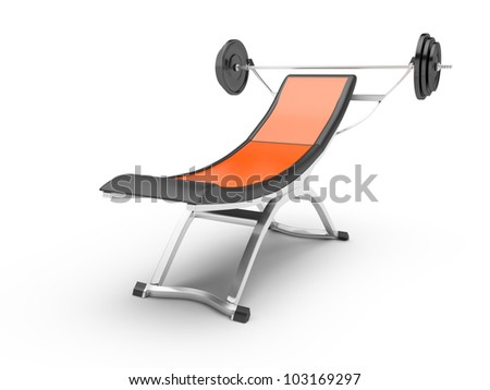 Barbell isolated on white background. 3d rendered image