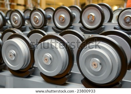 barbells  in a row