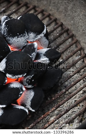 Barbeque fire