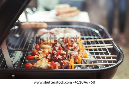 Barbeque on the grill