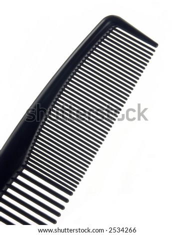 Barber's comb isolated on white background.