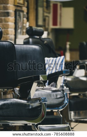 barber shop  hairdresser chairs ...