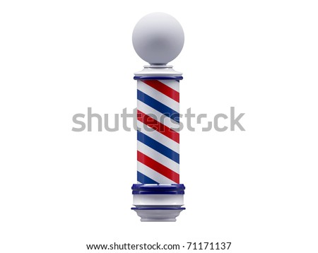barber sign isolated on white background - stock photo